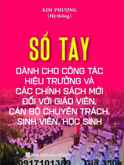 SO TAY CHO CONG TAC HIEU TRUONG VA CAC CHINH SACH MOI….Bia Quang cao