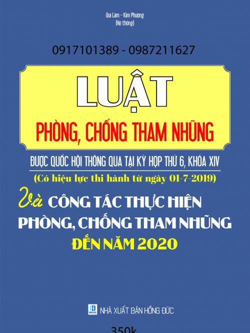LUAT CHONG THAM NHUNG CO HIEU LUC 2019 – NXB HONG DUC